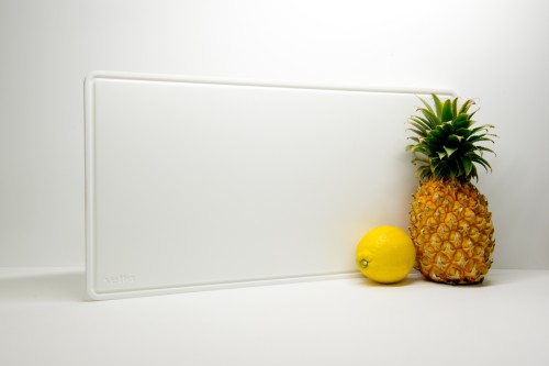 Bright White Pure Acrylic Board with Juice Groove