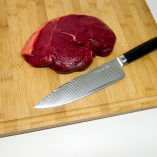 Chefs Knife with meat